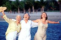 Ecstatic group of senior women