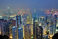 Cityscape from the Peak,Hong Kong, China