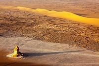 desert landscape, Egypt, Sahara, White Desert National Park, Oase Bahariya, Farafra