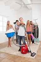 Teens bored with housework
