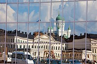 Finland , Helsinki City,Distorted picture of San Nicolas Cathedral.
