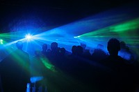 laser show with colourful lights, Slovakia