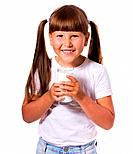 Girl loves milk