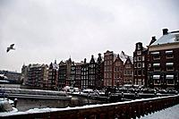 Amsterdam in snow