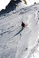 Skier on Mont Blanc