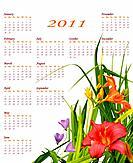 Floral 2011 calendar