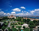 Hagia Sophia and Bosphorus, Turkey, Istanbul