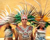 Dancers in Traditional Headdresses
