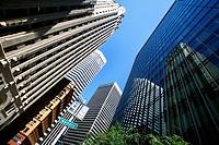 skyscraper in the city center, USA, California, San Francisco