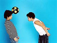 Two Boys Playing with Ball