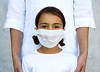 Girl Wearing Surgical Mask