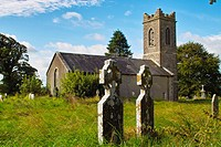Old disused protestant church and graveyard at Horseleap, Co. Westmeath, Ireland