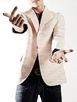 Man in Dress Jacket Showing Hand Signals