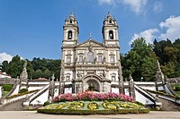 Bom Jesus do Monte Sanctuary in Braga, Portugal. One of the famous Portuguese sanctuaries. Baroque architecture