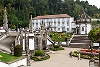 The Hotel Templo in the Bom Jesus do Monte Sanctuary in Braga, Portugal. One of the famous Portuguese sanctuaries. Baroque architecture