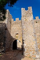 Entrance of the medieval castle of Sesimbra, Portugal