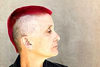 Woman with Red Mohawk