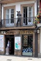 Sign of photography shop, A Coruna, Galicia, Spain