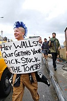 October 01, 2011, Manhattan, Occupy Wall Street protestors stopped traffic on the Brooklyn Bridge, Occupy Wall Street is an ongoing series of demonstr...