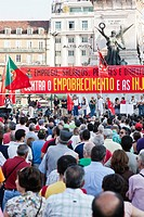 Speech in Restauradores Square in the demonstration against the IMF, the Troika, the Austerity Plan and for the defense of employment, salaries and pe...