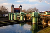 disused shaft lock from 1914, part of the Waltrop Lock Park, Germany, North Rhine_Westphalia, Ruhr Area, Waltrop