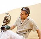 Man Holding Falcon
