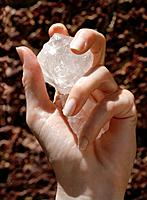 Crystal in Woman´s Hand
