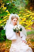 bride in autumn
