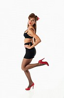 Pin-up style woman 50s 60s