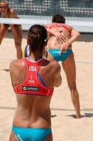 usa team at beach volley ball world championships tournament in foro italico rome italy 2011