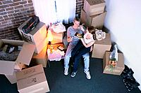 Couple Eating Sushi in New Apartment