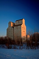 Old Grain Elevator Saskatchewan in Winter
