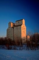Old Grain Elevator Saskatchewan in Winter
