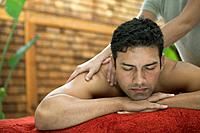 Man Receiving a Massage