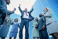 Group of Businesspeople Cheering