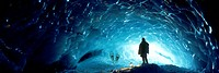 Ice Cave, Appa Glacier, Pemberton Ice Field, British Columbia
