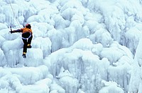 Ice Climbing in Coulonge River, Quebec
