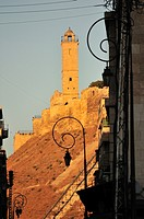 The citadel of Aleppo at sunset  Syria