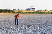 Farmer on Land Affected by Drought, Red River Valley, Manitoba