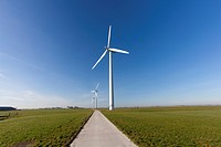 Wind turbines in the Netherlands producing green energy