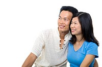 Happy Asian couple
