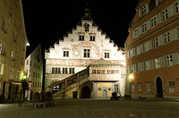 geography / travel, Germany, Bavaria, Lindau, old city hall, exterior view, night shot,