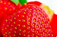 Close up of a strawberry.