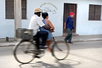 Artists Choice: Couple on a Bike, Camaquey, Cuba