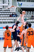 Deaf basketball players in the national championship in Madrid