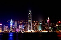 Night scene in Hong Kong
