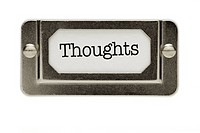 Thoughts File Drawer Label
