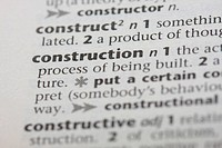 Construction work dictionary definition