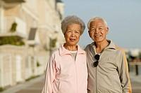 Senior Couple on Boardwalk, Toronto, Ontario