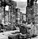 geography / travel, Mexico, Chichen Itza, buildings, Temple of the Kukulcan, built: 11th _ 13th century, exterior view, detail, circa 1960s,
